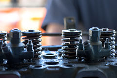 Piston Pushing Springs Stock Photography