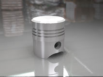 Piston. And rendered by drawing with 3dmax vray,by me Royalty Free Stock Photo