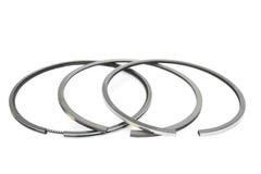 Piston ring. Set isolated on white background Royalty Free Stock Image
