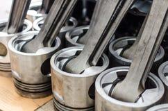 Piston utilisé de machine de moteur de moteur de générateur Images stock