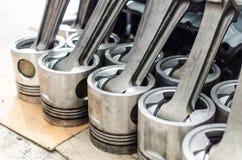 Piston utilisé de machine de moteur de moteur de générateur Images libres de droits