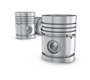 Piston  on white backgound Stock Images