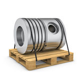 Piston on wooden pallet on white backgound Stock Photography