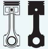 Pistong för enkel motor Arkivfoton