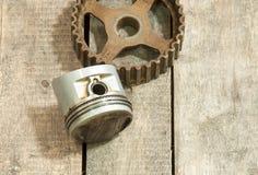 Pistong kugghjul Fotografering för Bildbyråer