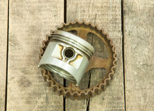 Pistong kugghjul Arkivbild