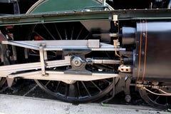 Pistong och stänger för ångalokomotiv arkivbild