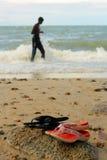 Pistoni alla spiaggia Fotografie Stock Libere da Diritti