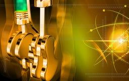 Pistoni che funzionano in motori illustrazione vettoriale