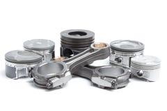 Pistoni e bielle, parti principali per un motore a combustione interna Immagini Stock Libere da Diritti