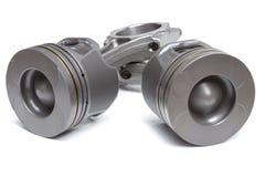 Pistoni e bielle, parti principali per un motore a combustione interna Immagine Stock