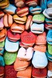 Pistoni marocchini di cuoio Fotografie Stock