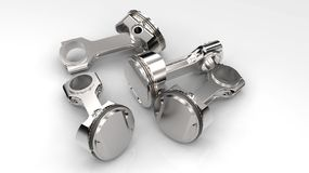 Pistons clean Stock Photography