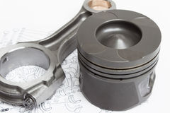 Pistons and connecting rods lie Royalty Free Stock Photography