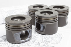 Pistons and connecting rods lie Stock Image