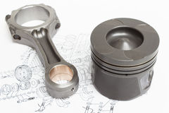 Pistons and connecting rods lie Royalty Free Stock Images