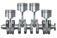Pistons & Crankshaft Royalty Free Stock Images
