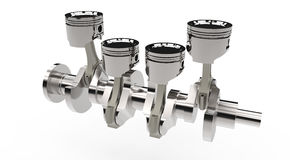 Pistons and crankshaft Stock Photography
