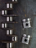 Pistons and crankshaft Stock Images