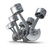 Pistons d'engine de V8 Images libres de droits