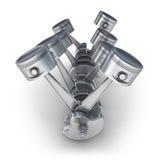 Pistons d'engine de V8 Image libre de droits