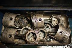 Pistons de moteur Photos libres de droits