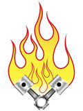 Pistons In Flames Royalty Free Stock Photo