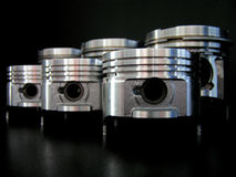 Pistons isolated on black Stock Images