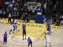 Pistons Player Tracy McGrady shoot a free throw Stock Image