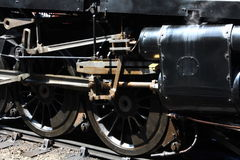 Pistons and Rods. The piston and rods of a steam locomotive royalty free stock photo