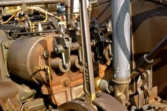 Pistons on a steam engine Stock Photos