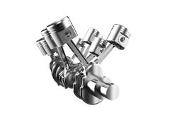 Pistons  on white Royalty Free Stock Photography