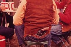 Pistool achterbroek stock foto's