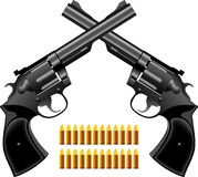 Pistool een revolver stock foto