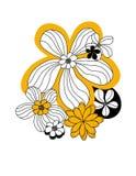 Pisture con i fiori royalty illustrazione gratis