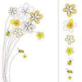 Pisture with flowers drawing Stock Photography