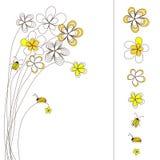 Pisture mit dem Blumenzeichnen Stockfotografie