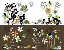 Pisture mit Zeichnungsblumen Lizenzfreie Stockfotografie