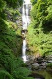 Pistyll Rhaeadr i de Berwyn bergen Royaltyfria Bilder