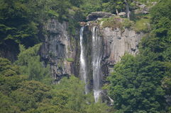 Pistyll Rhaeadr nelle montagne di Berwyn Fotografia Stock Libera da Diritti