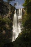 Pistyll Rhaeadr vattenfall – hög vattenfall i Wales, eniga Ki Royaltyfria Foton