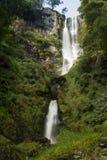 Pistyll Rhaeadr vattenfall – hög vattenfall i Wales, eniga Ki Royaltyfri Foto