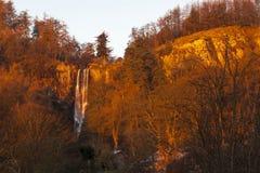 Pistyll Rhaeadr waterfall Royalty Free Stock Photos