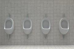 Pisuary w jawnej toalecie royalty ilustracja