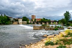 The Pisuerga River passing through Valladolid Royalty Free Stock Image