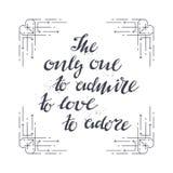 Piszący list druk dla odziewa, motywacyjny plakat Obraz Royalty Free