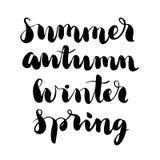 Piszący list - lato, jesień, zima, wiosna Zdjęcie Royalty Free