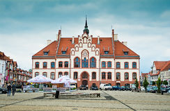 PISZ, POLAND - June 18, 2016: Town hall in Pisz, built in 1900. Royalty Free Stock Photography