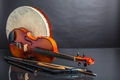 Piszczałka, bębenu amd skrzypki Fotografia Royalty Free