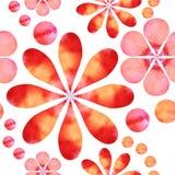 pisze kwiaty ja obrazu obrazka akwarela Fotografia Stock